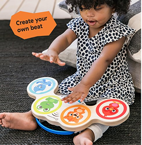 61ZDGl9 BWL - Baby Einstein Magic Touch Drums Wooden Drum Musical Toy, Ages 6 months and up