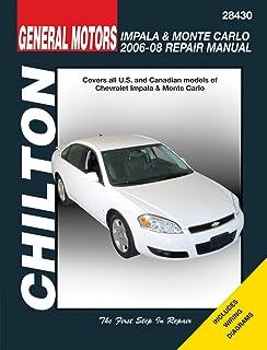 chevy monte carlo impala 06 11 monte carlo 06 07 haynes repair rh amazon com Haynes Repair Manual 1991 Honda Civic Haynes Repair Manual Online View