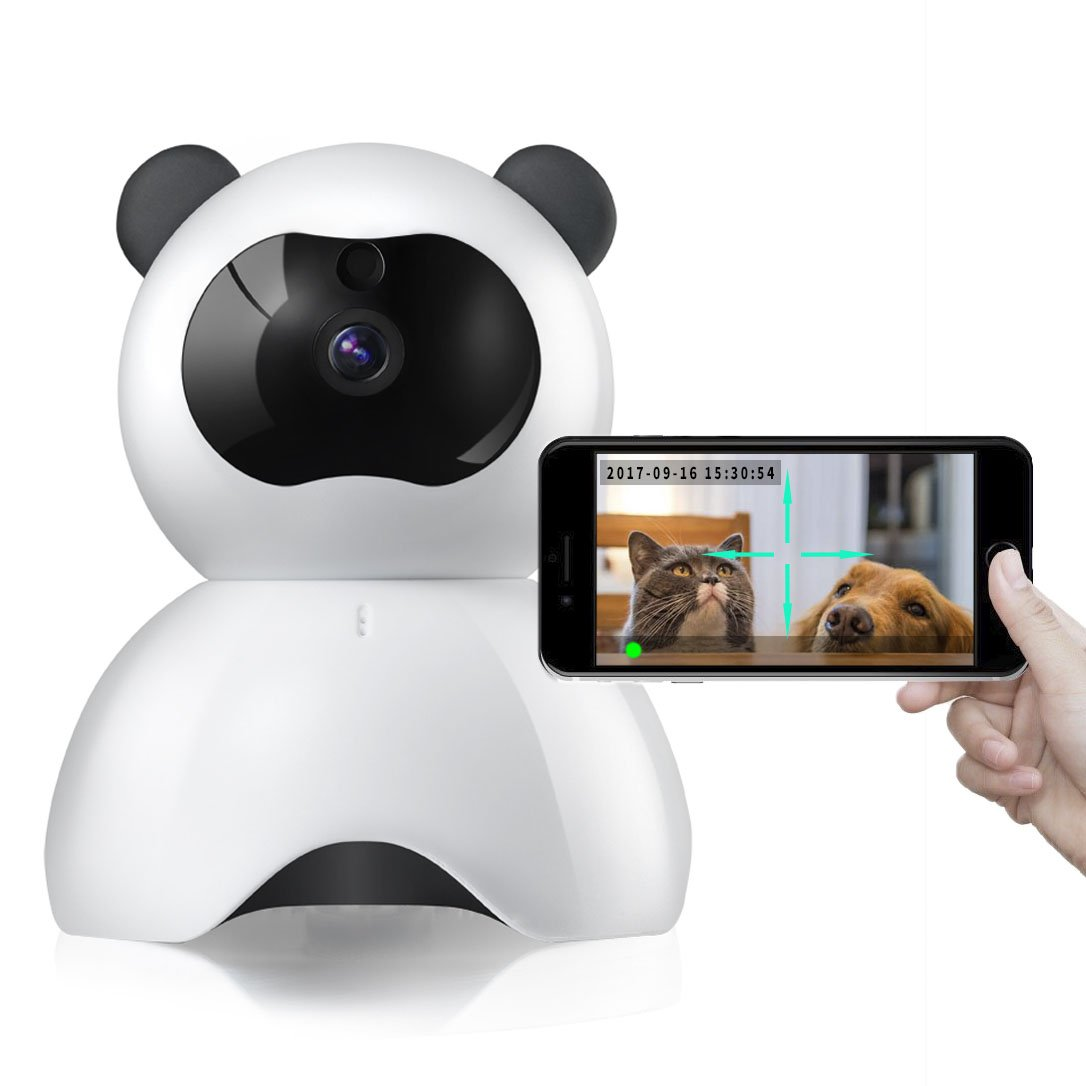 ACHKL Pet Monitor 720P HD Wireless Dog Monitor Two-Way Audio Indoor Home Security IP Camera Night Vision