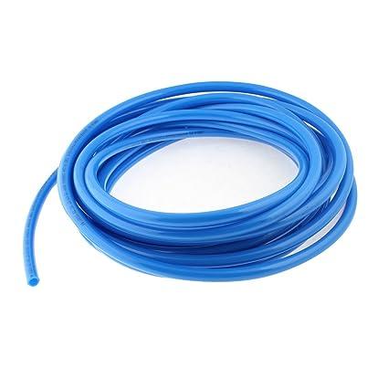 sourcingmap® 10M 33Ft Longitud 12mmx8mm Azul Compresor De Aire Neumático Manguera De Poliuretano Pu Tubo
