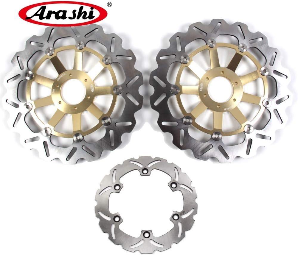 Arashi Front Rear Brake Disc Rotors for HONDA CBR929RR 2000 2001 Motorcycle Replacement Accessories CBR 929 RR CBR929 929RR 00 01 Black CBR954RR 2002-2003
