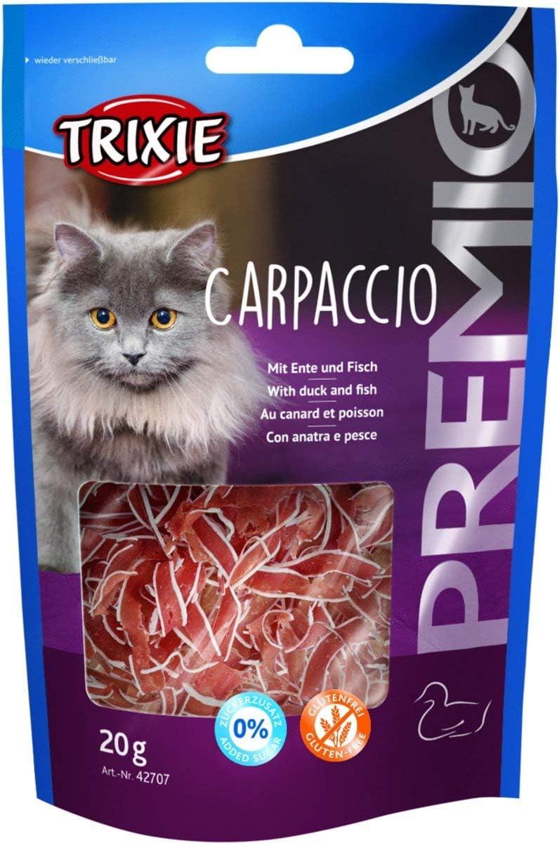 TRIXIE Snack PREMIO Carpaccio con Pato y Pescado, 20 g, Gato