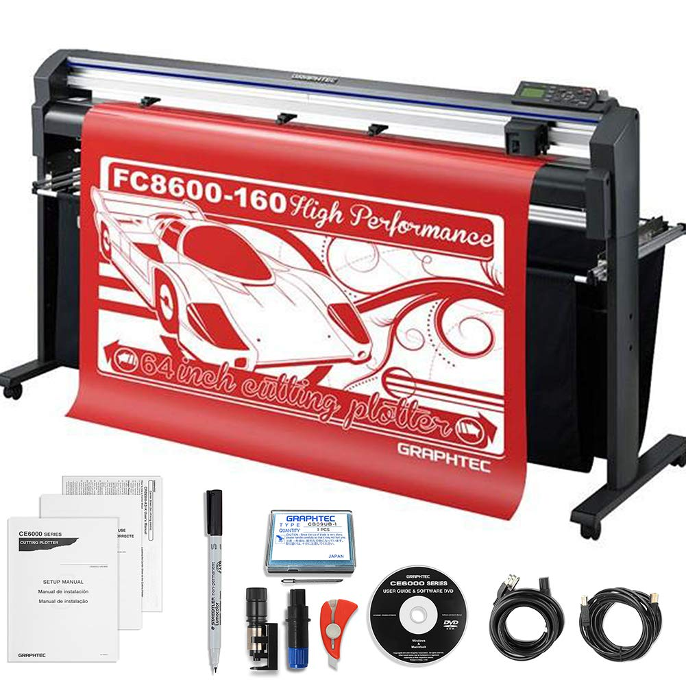 Graphtec Professional FC 8600-160 64'' Vinyl Cutter with $700 in Software & 3 Year Warranty by Graphtec
