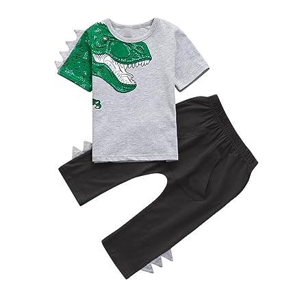 PAOLIAN Conjuntos Ropa para Babe Niños para Verano Manga corta Camisetas y Pantalones Camisetas Zapatos de