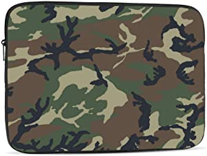 13 15 Inch Laptop Sleeve Bag Compatible with MacBook Pro Air Waterproof Shock Resistant Notebook Protective Bag Carrying Case with Small Case - Camo Cactus