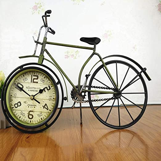 ZJP-dzsw Reloj de Mesa Hierro Forjado Reloj Antiguo Decoración del ...