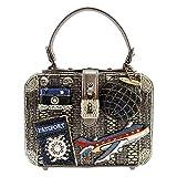 MARY FRANCES Mile High Embellished Travel Theme Top-Handle Handbag