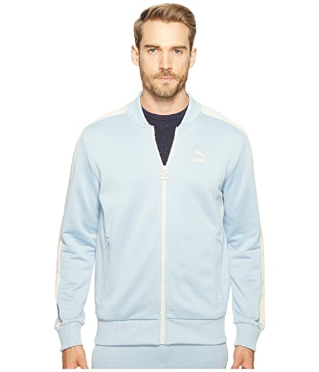 0444f6b5e5dd PUMA Mens T7 Full Zip Blue Bomber Jacket at Amazon Men s Clothing store