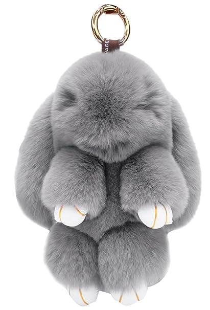 Llavero de conejo muñeca de la felpa colgante para la ...