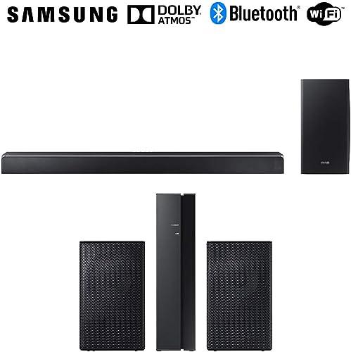 Samsung 370W Virtual 5.1.2-Channel Soundbar System w Wireless Subwoofer HWQ80R SWA-9000S ZA Surround Sound bar Home Speaker Set of 2