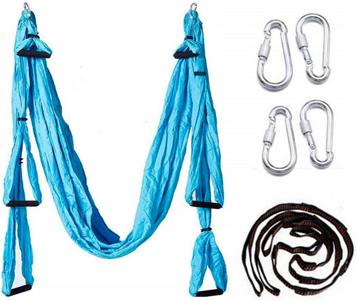 EverKing Aerial Yoga Swing – Ultra Strong Antigravity Yoga Hammock Sling Inversion Tool for Air Yoga Inversion Exercises