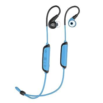 MEE Audio - Auriculares X8 intraurales e inalámbricos con micrófono y doble batería Negro azul: Amazon.es: Electrónica