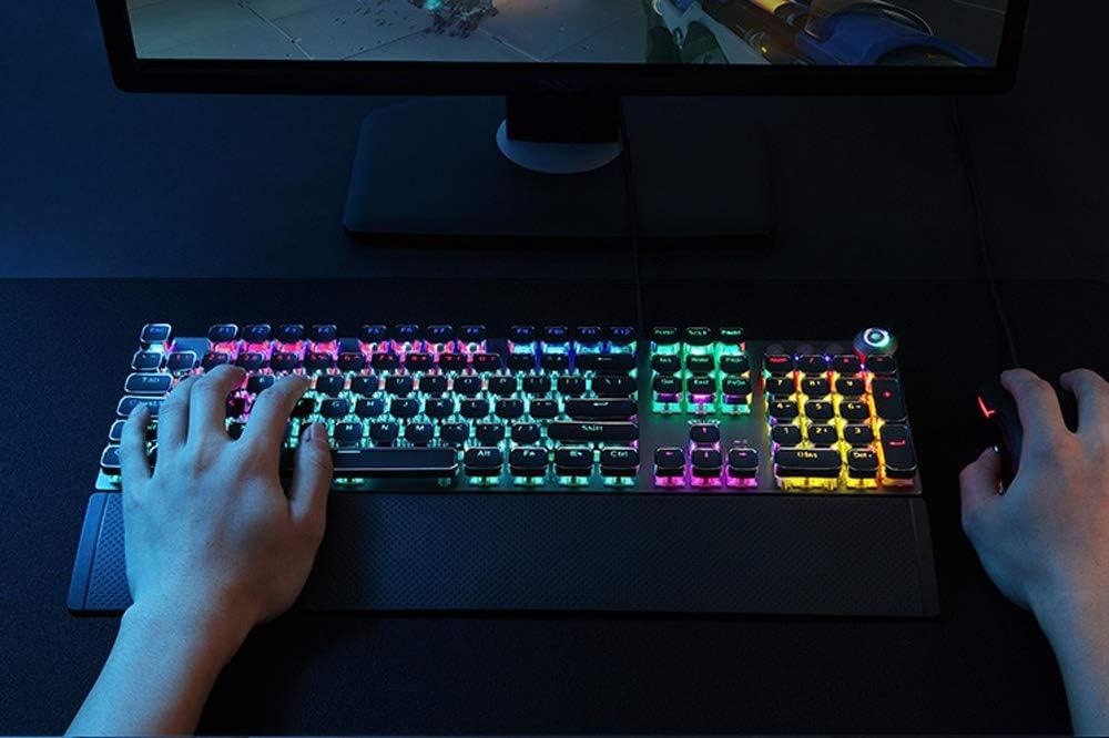 HBBOOI Wired Mechanical Gaming Keyboard 88 Keys USB Interface LED Backlight Mode Ergonomics Keyboard for PC Computer Laptop Notebook