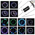 DAWAY LED Bike Spoke Lights - A12 Waterproof Cool Bicycle Wheel Light (2 Pack), Safety Tire Lights for Kids Adult, Very Bright, Auto & Manual Dual Switch, 30 Pattern, Include Battery, 6 Month Warranty
