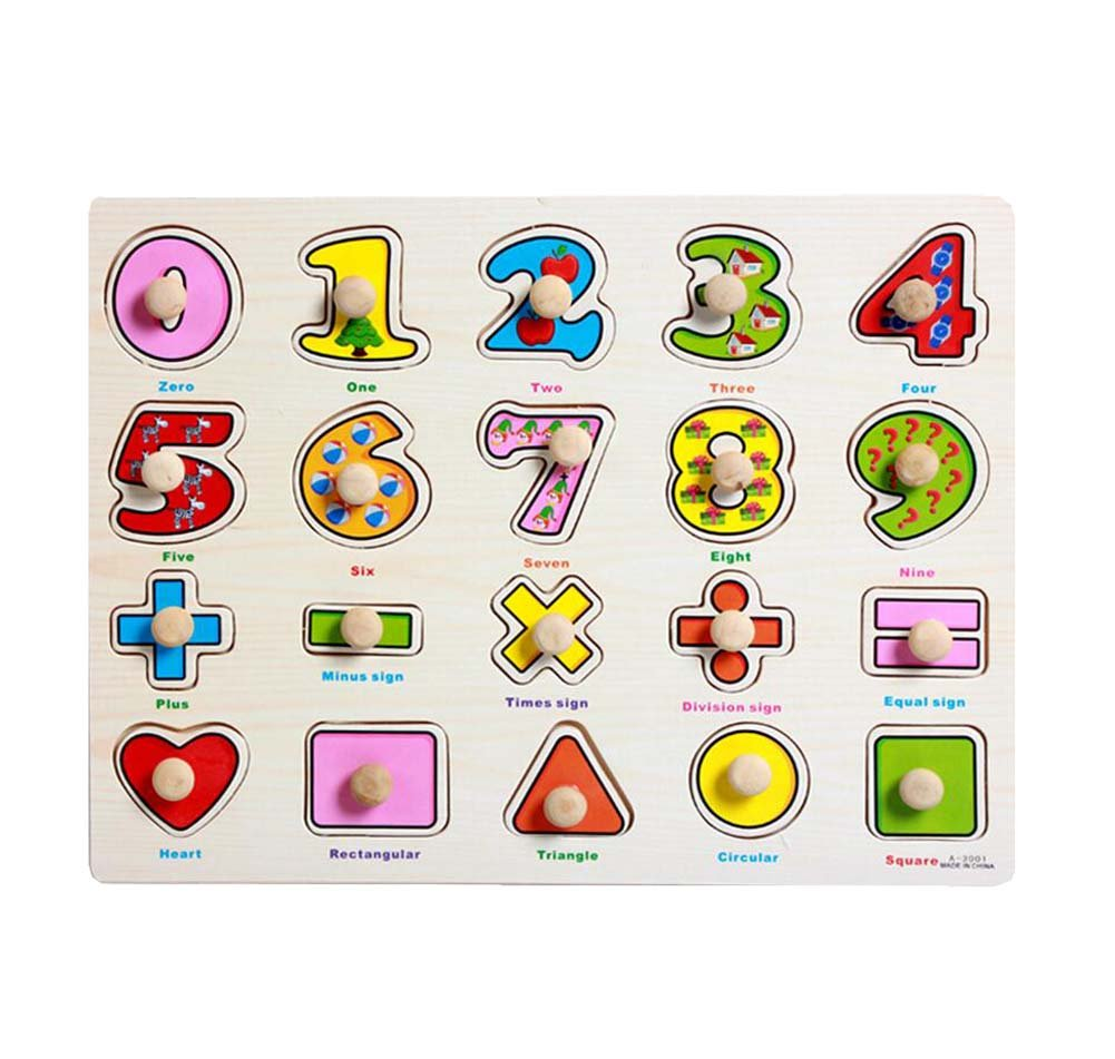 Niños Jigsaw Puzzles Juguetes educativos Puzzles- Aprendizaje de Matemáticas Black Temptation