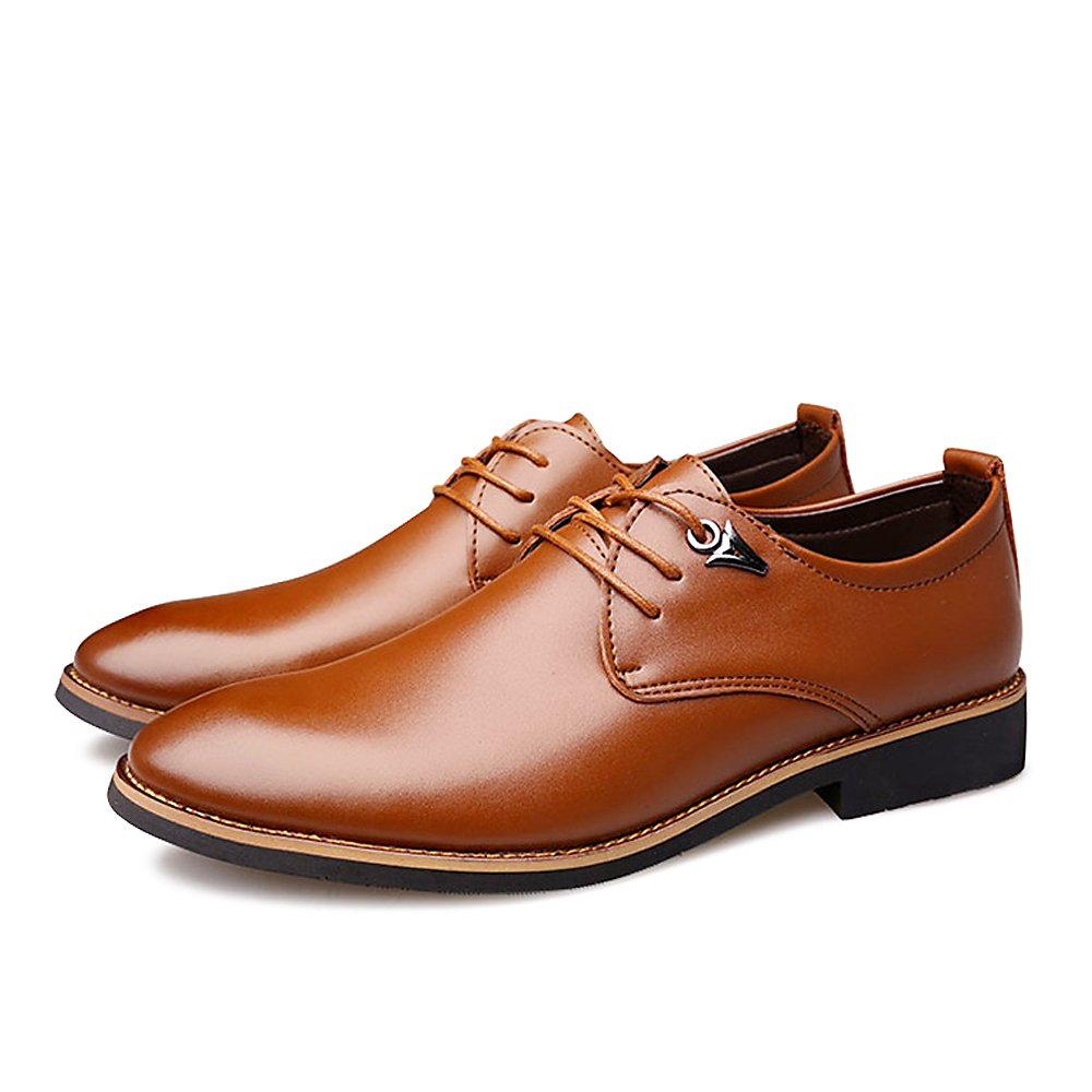 2018 Men's Classic Leather Oxfords Casual Lace up Design Formal Business Wedding Dress Shoes Male Flats Footwear MISALWA FS123-009