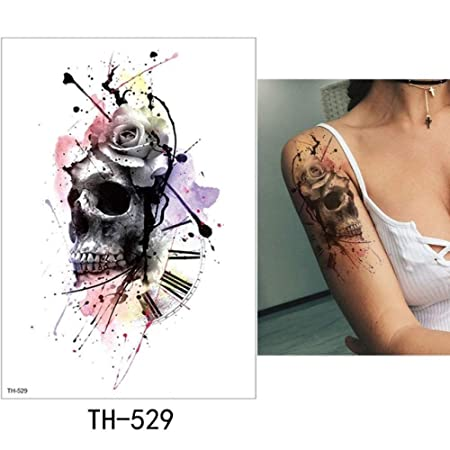 adgkitb Etiqueta engomada Temporal del Tatuaje de la Hoja 3pcs ...