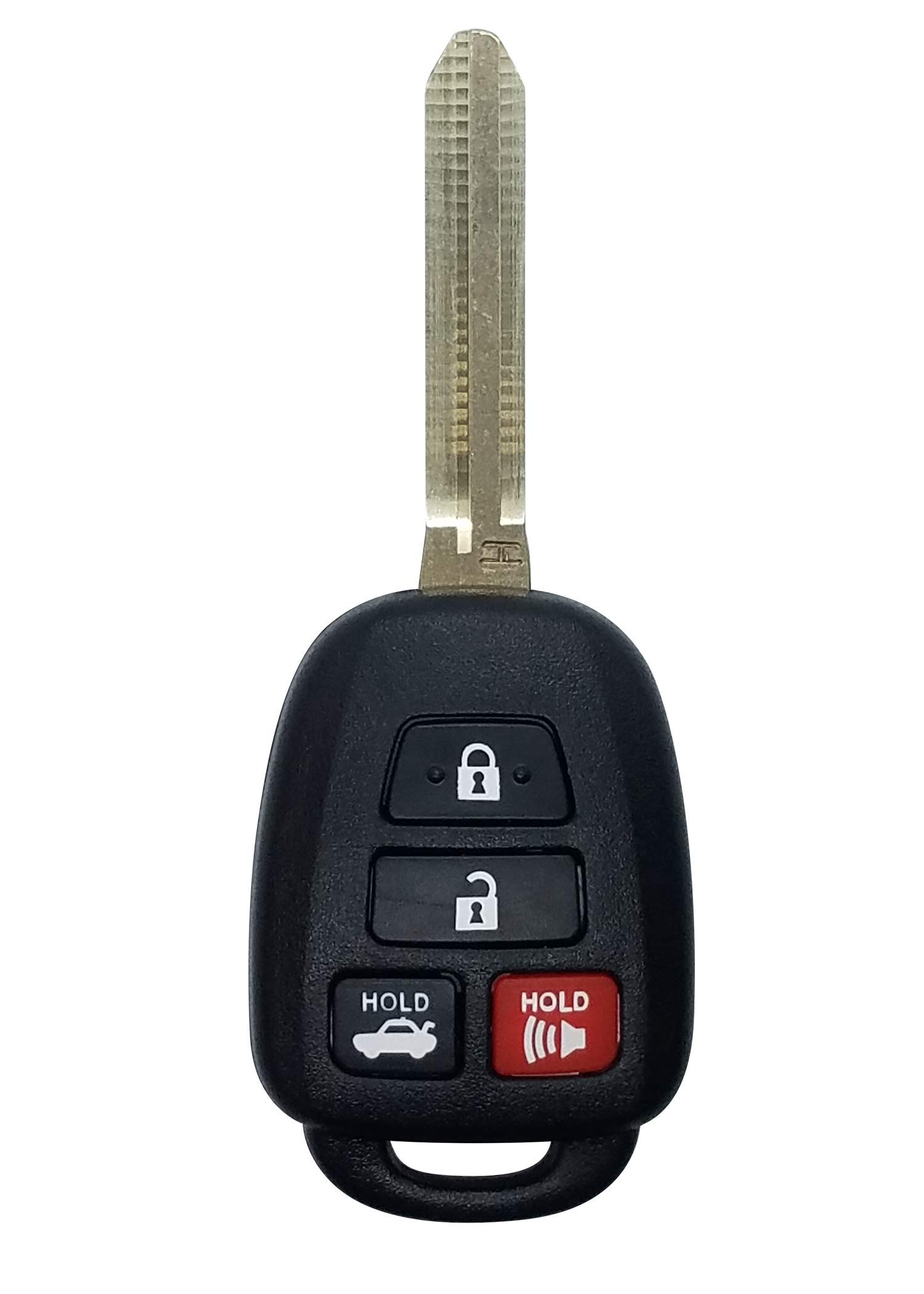KeylessOption Keyless Entry Remote Car Fob Ignition Key for Toyota Camry with G Chip HYQ12BDM Pack of 2