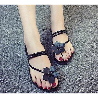 RTRY La Mujer Confort Sandalias De Pp (Polipropileno) Primavera Verano Confort Informal Ruby Negro Blanco 2A-2 3/4 Pulg. US7.5 / EU38 / UK5.5 / CN38