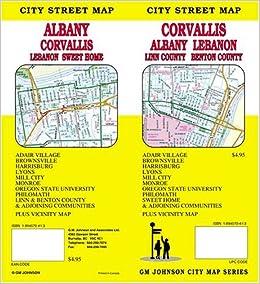 Corvallis Albany Lebanon Oregon City Street Map Gm Johnson