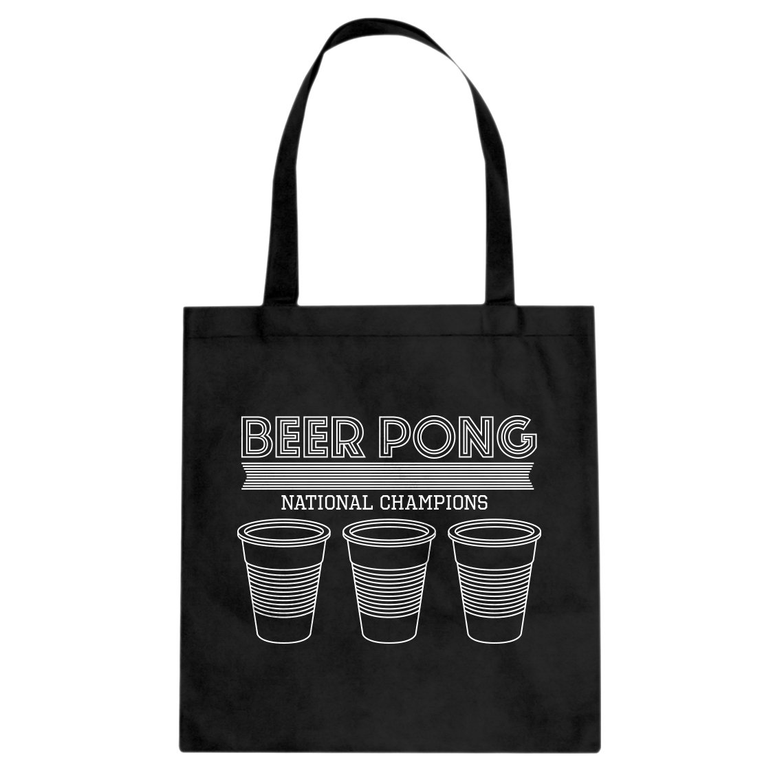 Indica Plateau Beer Pong National Champions Cotton Canvas Tote Bag