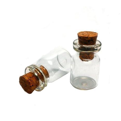 Botellas de 0,5 ml Viales de vidrio transparente con tapón de corcho botella de