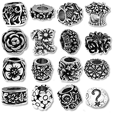 Flower Beads and Charms for European Style Charm Bracelets - Pandora Fiore Charm