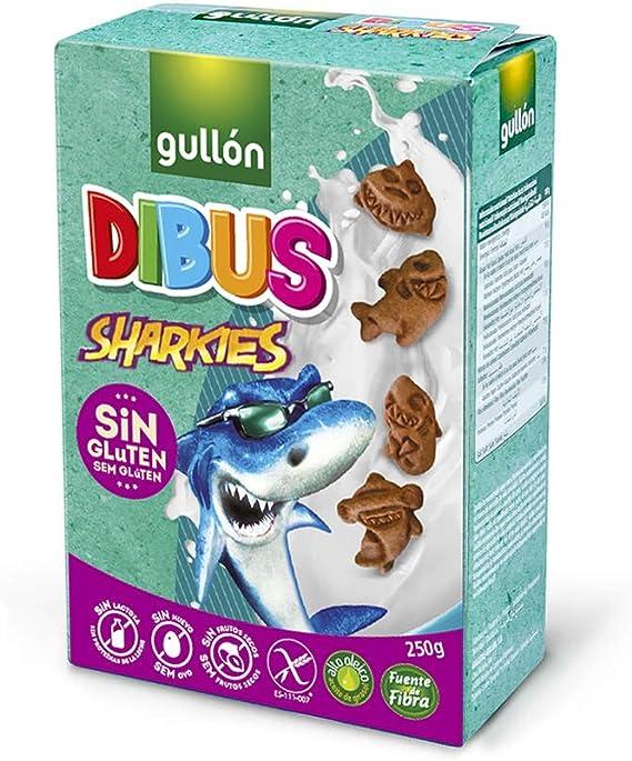 Gullón Galletas sin Gluten Mini Dibus Sharkies, 250g: Amazon ...