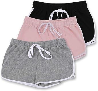 Blis mujer Yoga Workout Lounge Short de algodón con bolsillo ...