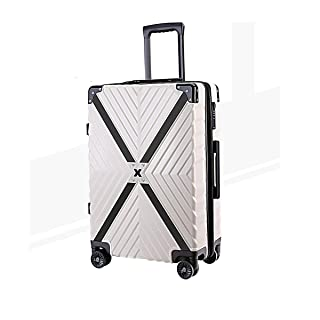 24 inches The Latest Style Huijunwenti Hard Travel Bag Trolley case Suitcase Blue Color : Metallic Simple Travel Organizer Simple
