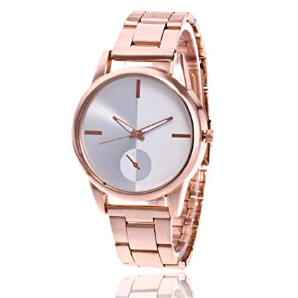 Simple Women Watches Stainless Steel Analog Quartz Round Wrist Watches Bracelet Clock Ladies Watch Relojes para