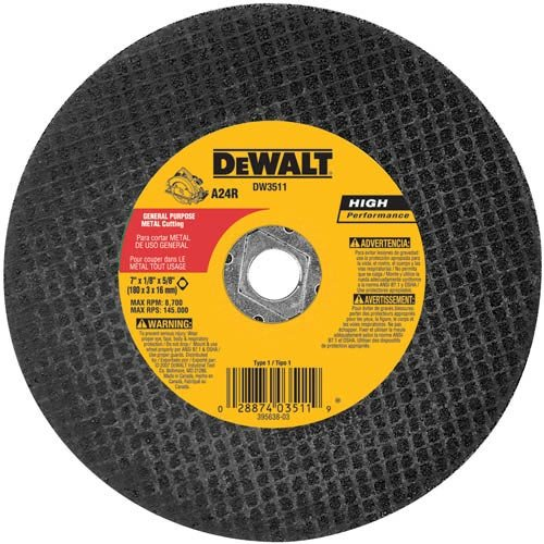 DEWALT DW3511B5 7-Inch High Performance Metal Cutting Abrasive Saw Blades, (Dewalt Abrasive Blade)