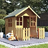 4x4 BillyOh Bunny Max Children Wooden Playhouse Outdoor - Premium with 2ft Picket Fence
