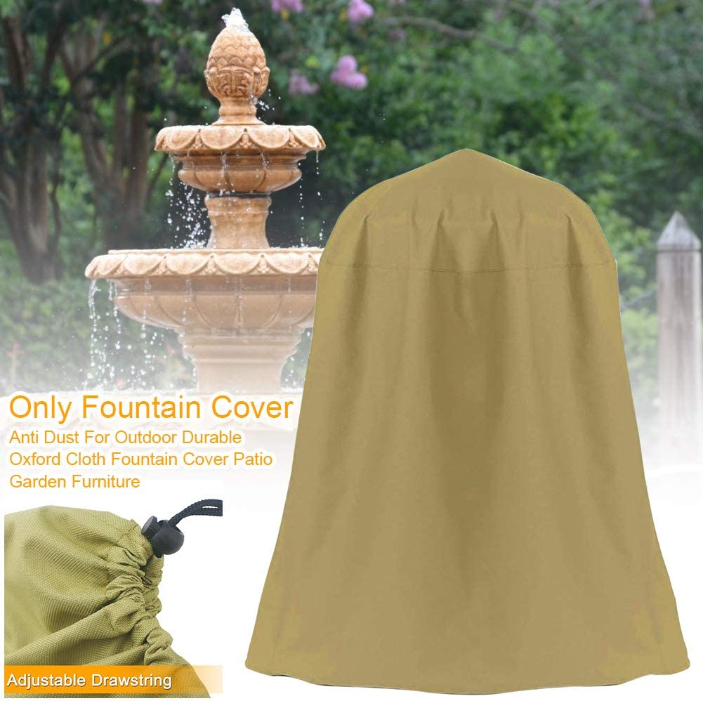 Outdoor Water Fountain Cover,Outdoor Statues Cover LVOERTUIG Fountain Cover Garden Fountain Cover Oxford Cloth Windproof and Rainproof Dustproof Cover with Adjustable Drawstring