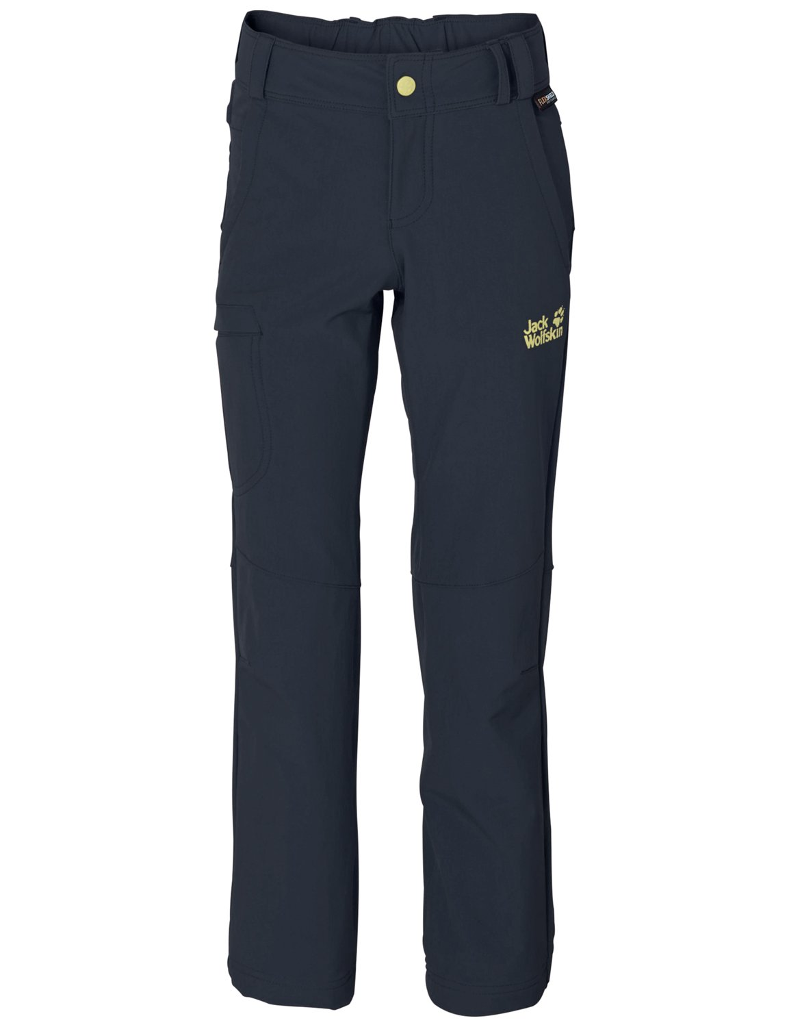 Jack Wolfskin Girl's Activate II Soft Shell Pant, Night Blue, 104