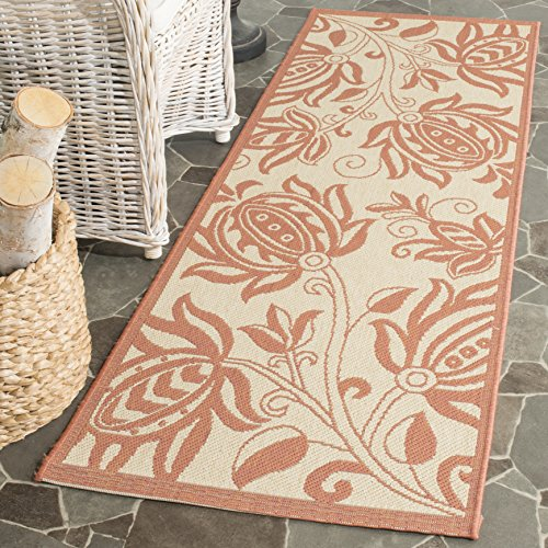Safavieh Courtyard Collection CY2961-3201 Natural and Terra Indoor/ Outdoor Runner (2'3
