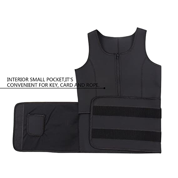 2447658a51 Amazon.com  KINJOHI Women s Plus Size Sweat Vest Neoprene Sauna Waist  Trainer  Clothing