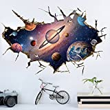 Kaimao Wall Decal 3d Mural a Corner of Star Universe Removable Wall Stickers for Wall and Ceiling Home Decor