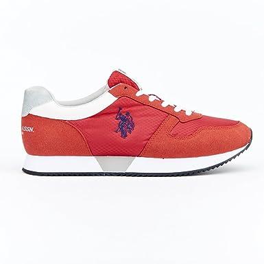 U.S.POLO ASSN. Sneakers Uomo US Polo Nylon Rosso: Amazon.es: Ropa ...