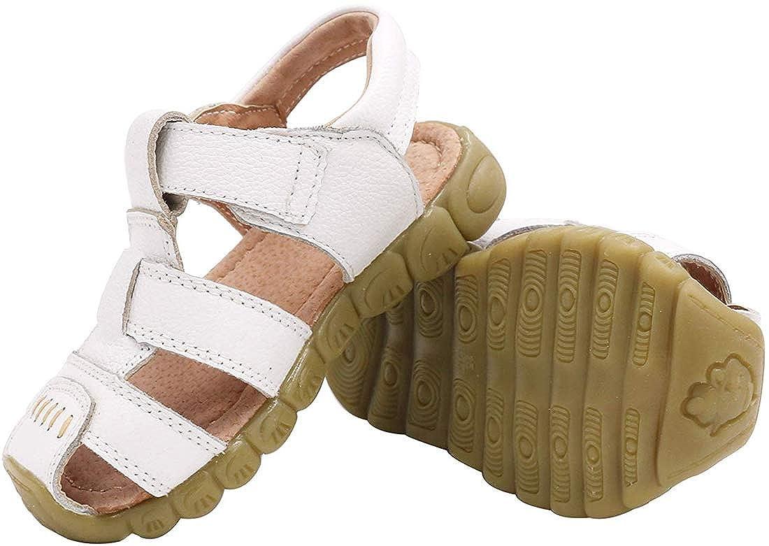 2fdf8c5261010a Gaatpot Enfant Sandales et Nu-Pieds en Cuir Bébé Chaussure Sandales Bout  Fermé Chaussure dété pour Garçon Fille ...