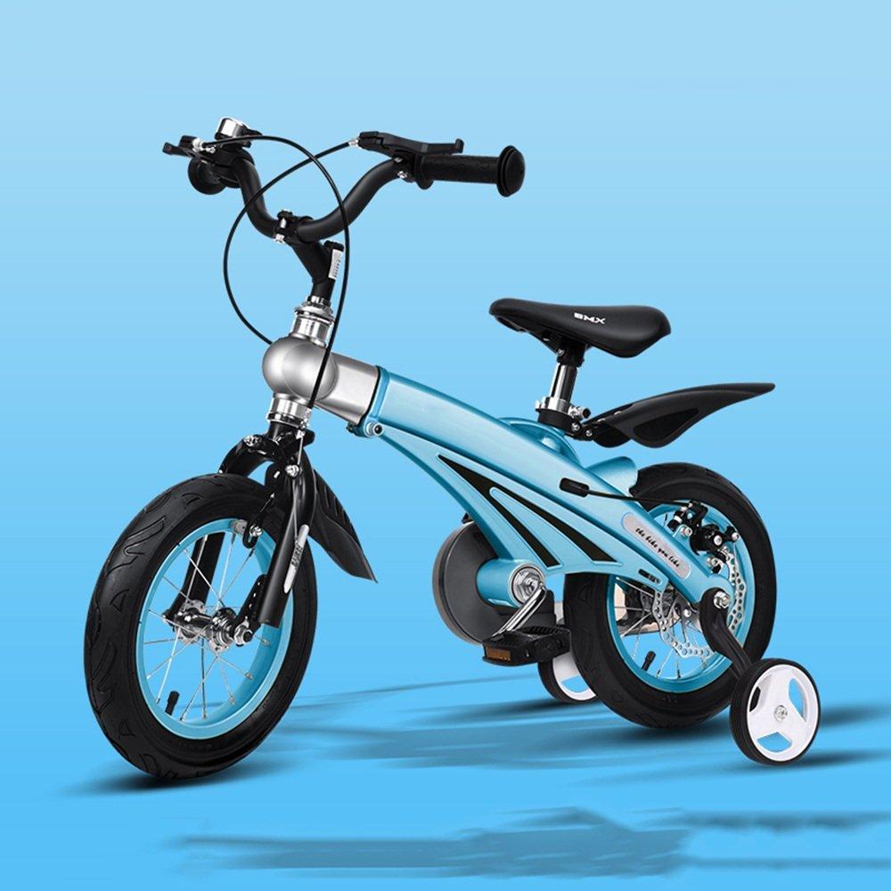 YANGFEI 子ども用自転車 子供の自転車男の子の女の子の自転車12/14/16インチ乳母車マウンテンバイク子供の自転車拡張長マグネシウム合金 212歳 B07DWR4BDN 14 inch|青 青 14 inch