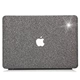 MacBook Pro 15 Case 2017 & 2016 Release A1707,YMIX Glittery Hard Shell Cover Rubberized Protective Case for Apple MacBook Pro 15 Inch Retina with Touch Bar & Touch ID Ver.(# Shiny Gray)