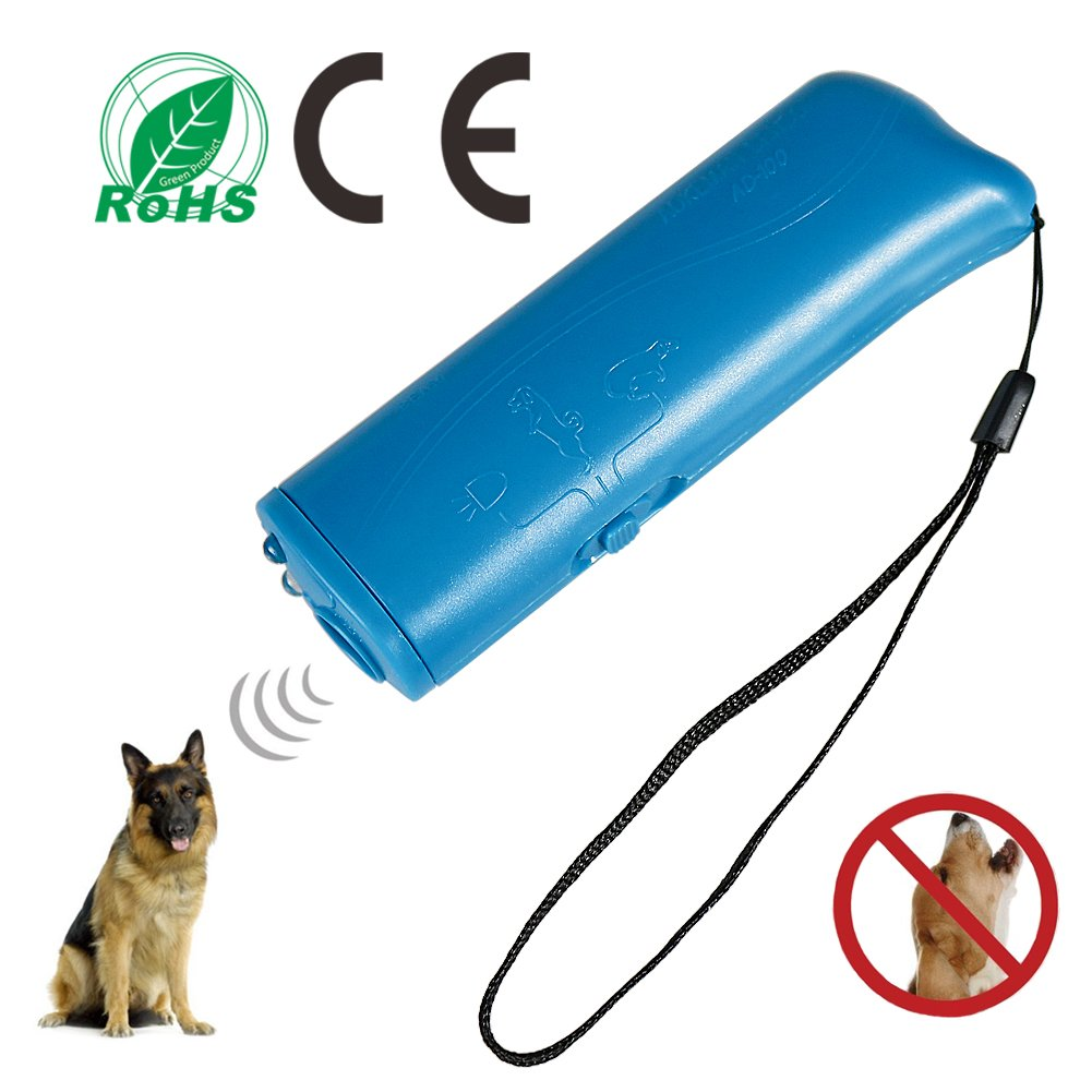 Pennyy Dog Repeller Ultrasonic 3 in 1 Stop Bark Handheld Dog Bark Deterrent Dog Training Device with Motion Activated for Dog and Cats