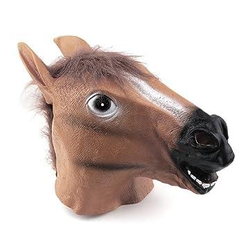 ulable cabeza de caballo máscara de látex Animal Costume Prop Gangnam Style Juguetes Fiesta Halloween