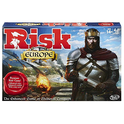Risk Europe Strategy Board Game by Hasbro - Perfect Game for the Entire Family - Multiplayer Conquest of 7 Unique Kingdoms - Accept Secret Missions, Fight Battles, Take Over Medieval Europe (War Of The Rings Board Game)