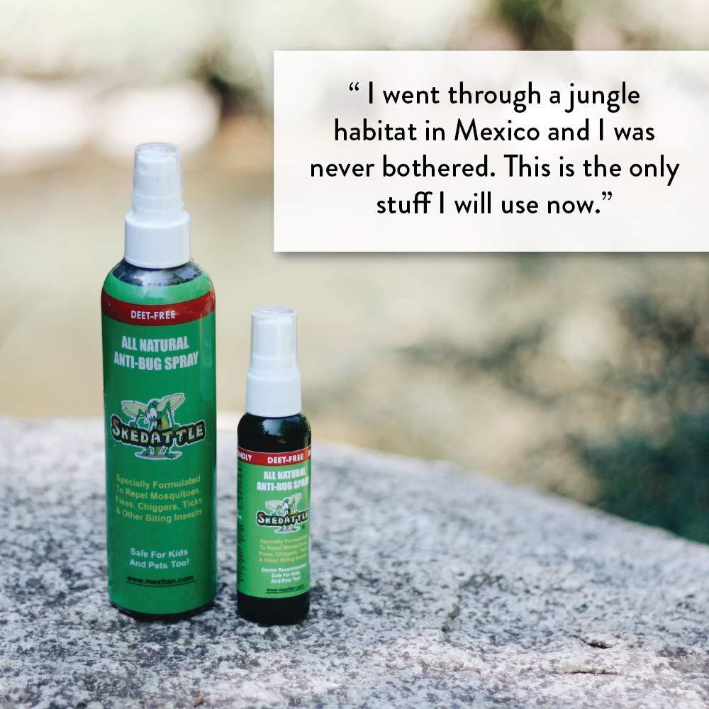 Amazon.com: Repelente de insectos skedattle, natural hecho ...