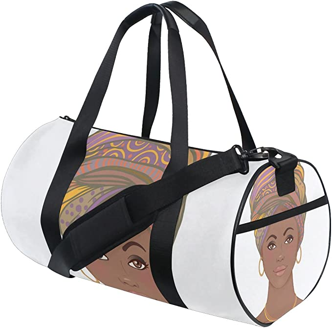 AHOMY Sports Gym Bag Africa Woman Art Duffel Bag Travel Shoulder Bag