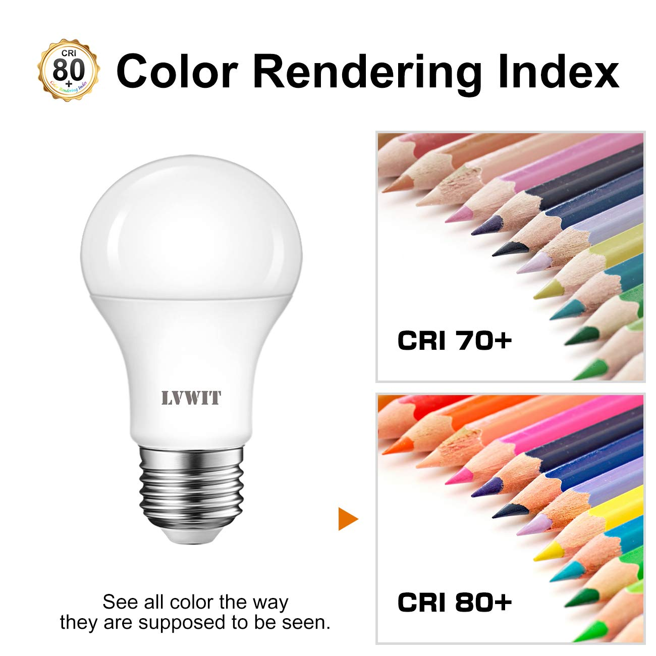 Lampadina LED E27,13W Equivalenti a 75W 1055Lm Pacco da 6 Pezzi Luce Bianca Fredda 6500K