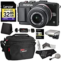 Olympus PEN E-PL6 Digital Camera with 14-42mm II Lens + Lexar 32GB SDHC Memory Card + Ritz Gear CAMERA BAG + Ritz Gear Reader Writer + Polaroid Cleaning Kit + Polaroid Screen Protector + Card Wallet Basic Facts Review Image