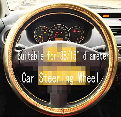 Universal Summer of Colorful Glossy Leather Steering Wheel Cover Automotive Interior Car Accessories (Gold)